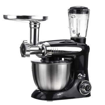 Multi-function 3 in 1 Kitchen Electric Mixer 1000W 6 Speed Kneading Dough Machine Egg Beater Electric Mixer Cream Whipping Machine For Home Baking