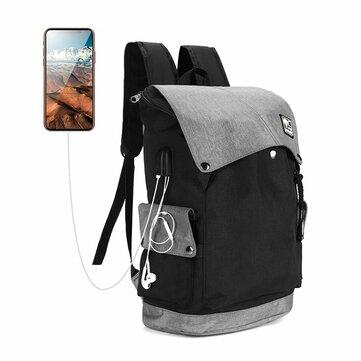 Laptop Ryggsekker Reise Bag Student Veske Med USB Ladestasjon