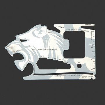Tiger-shape 18 Tools in 1 Pocket Tool Multifunctional Card Survival Tools