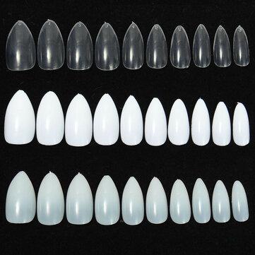 600pcs almendra forma oval de aguja extremidades del arte del clavo falso completos puntiagudos garra pulimento del gel acrílico