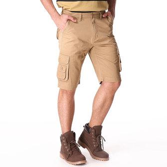 बिग मेन्स कपास शॉर्ट्स पैंट आरामदायक मल्टी पॉकेट्स लूज कार्गो प्लस साइज 30-46
