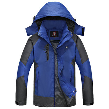 Mens Waterproof Outdoor Sport Casual Jacket Big Size Thin Mountaineering Spring Hooded Coat