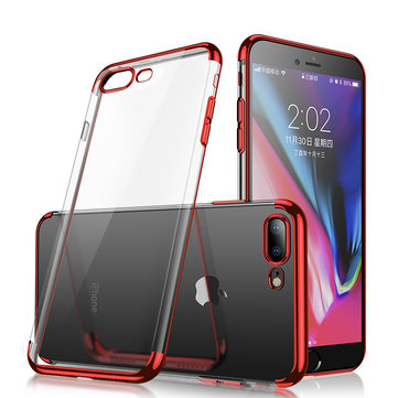 Cafele Plating Transparent Soft TPU Veske Til iPhone 7/iPhone 8
