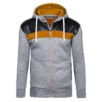 फैशन पुरुषों कार्डिगन हुडी स्वेटर आरामदायक स्प्लिसिंग जिपर स्पोर्ट हुडीज