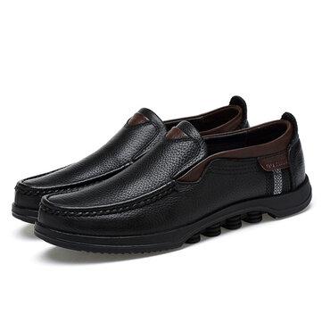 Menico Big Size Casual Soft Slip On Leather Flats