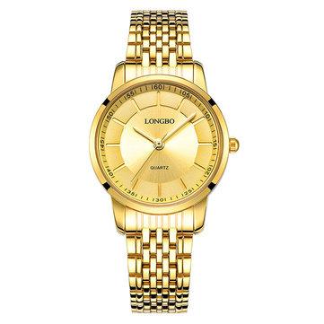 LONGBO 80281 Casual Style Stainless Steel Couple Watch Gift Men Women Quartz Wrist Watch