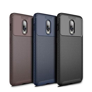 Nướng Carbon Fiber Shockproof Soft TPU Vỏ bảo vệ cho Oneplus 6T / OnePlus 7