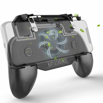 DATA FROG S8-SR PUBG Game Controller Gamepad Trigger Shooter for PUBG Mobile Game with Rear Fan for Android iOS Phones