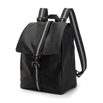 Мужчины Минималистская мода 16 дюймов Ноутбук Сумка Большие наплечники Microfiber Сумка Рюкзак