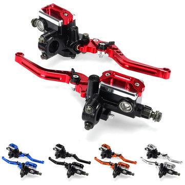 "7/8"" Motorcycle Master Cylinder Hydraulic Brake Pump Clutch Handlebar Lever Reservoir Set"