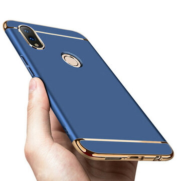 Bakeey Ultra-thin 3 in 1 Plating Frame Splicing PC Hard Protective Case For Huawei Honor 10 Lite / Huawei P Smart 2019