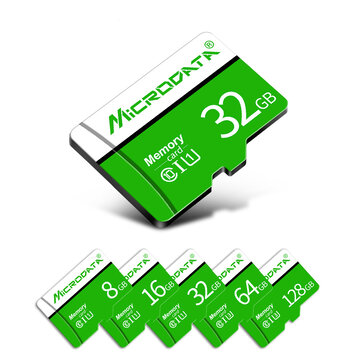 MicroData 8GB 16GB 32GB 64GB 128GB Class 10 High Speed Max 80Mb/s TF Memory Card With Card Adapter For Mobile Phone Tablet Camera Car DVR