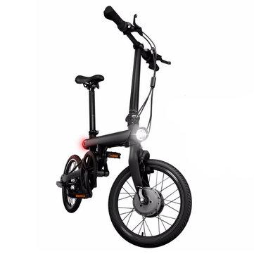 Xiaomi bicicleta de dobramento elétrica inteligente bluetooth xnumx bicicleta inteligente com frente e luz traseira dobrável pedais de apoio para app liga de alumínio quadro