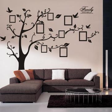 Memory Tree Photo Wall Sticker vardagsrum heminredning kreativ dekal DIY väggmålning väggkonst