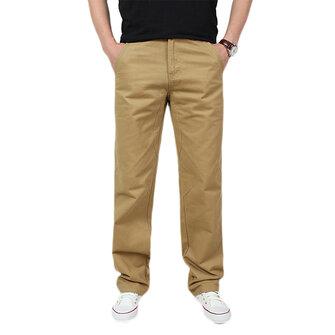 वसंत पुरुषों आरामदायक आरामदायक कपास ढीला ठोस रंग कार्गो पैंट आउटडोर काम आरामदायक ट्राउजर