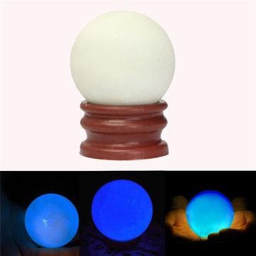 brillo perla luminosa en el oscuro cristal de cuarzo piedra luminosa esfera de la bola noche perla