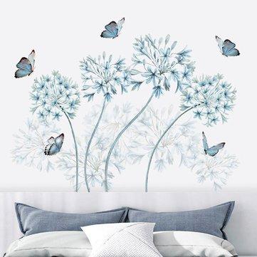 Removable Blue Dandelion Butterflies Wall Sticker Art Vinyl Decal Home Decor