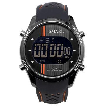 SMAEL 1283 Đồng hồ kỹ thuật số LED Đàn ông thể thao ngoài trời Dây đeo silicon Quân đội Đồng hồ đeo tay nam