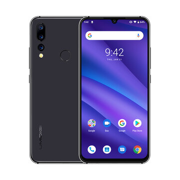 UMIDIGI A5 Pro Global Version 6.3 Inch FHD+ Waterdro Display Android 9.0 4150mAh Triple Rear Cameras 4GB 32GB Helio P23 4G Smartphone