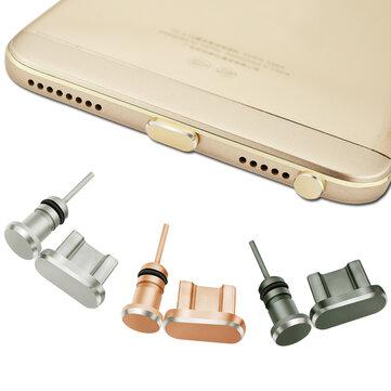 アルミニウムのAndroidのダストプラグセットマイクロUSBポート+イヤホンジャックプラグスマートフォン用SIMカード針