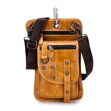 Ekphero® Men Vintage Waist Bag Travel Fanny Pack Belt Loops Hip Bum Bag