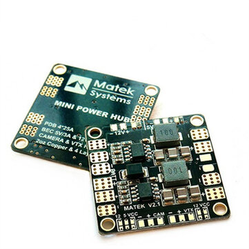 Matek Mini Power Hub Power Distribution Board PDB With BEC 5V And 12V for RC Drone FPV Racing