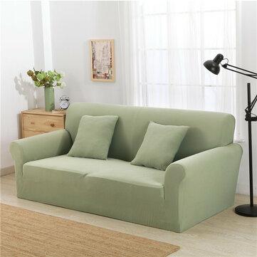 KCASA KC-PCP2 Sofás de malha de malha espessada Jacquard Poliéster Spandex Estofados de tecido Cobertura de protetor de sofá de cor sólida