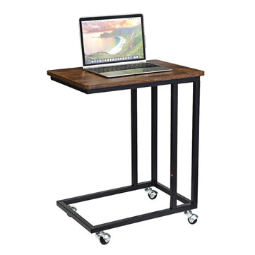 DouxLife® DL-ST02 Mobile Notebook Table Sliding C-shaped table Sofa Side Bench Table With Wheels for Laptop Home Furniture Supplies
