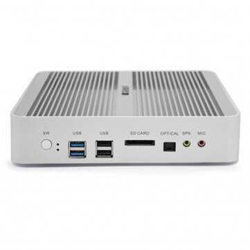 HYSTOU FMP03B Mini PC i5 7260U 8GB+128GB/8GB+256GB Dual Cores Win10 DDR4 Intel HD Graphics 640 3.4GHz Fanless Mini Desktop PC SATA mSATA MIC VGA HDMI 300M WIFI