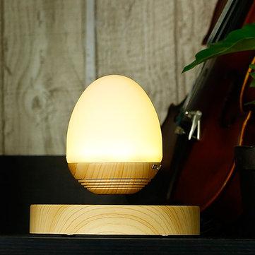 Bluetooth Night Moxo Led Wireless Magnetic Light Wooden Suspension Mini Lamp Egg Speaker BdrCxoe