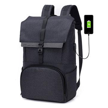 Оксфорд большой емкости 17 дюймов ноутбук Сумка USB зарядки рюкзак для мужчин