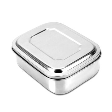 16/18/22cm Stainless Steel Lunch Box 3 Grid Tableware Camping Picnic Food Container