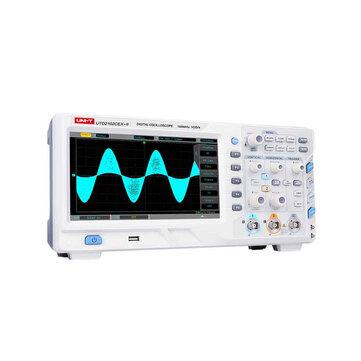 UNI-T UTD2102CEX-II Digital Storage Oscilloscope 2CH 100MHz Bandwidth 800x480 WVGA Phosphor 8Inch TFT 1GS/s 25kpts  2 Channels