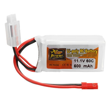 ZOP Power 11.1V 600mAh 60C 3S Lipo Battery JST Plug