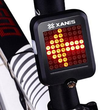 XANES STL-01 64 LED 80LM אוטומטי אינדוקציה אוטומטי פלדה טבעת בלם בטיחות תאורת אופניים עם אינפרא אדום לייזר אזהרה לילה אור לבן טעינה USB