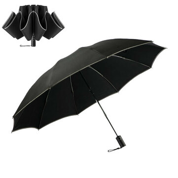 Xmund XD-HK11 Automatic Umbrella 1-2 People Reflective Folding Umbrella Portable Windproof Sunshade With Leather Cover