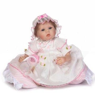 NPK 16 Inch 40cm Reborn Baby Soft Silicone Doll Handmade Lifelike Baby Girl Dolls Play House Toys Birthday Gift
