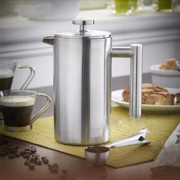 Prensa francesa del émbolo del café del acero inoxidable de Doublewall 350ml Té Máquina de café práctica del fabricante