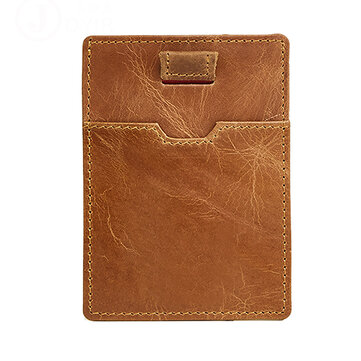 RFID Blocking Anti Theft Men Genuine Leather Card Holder Retro Casual Document Wallet