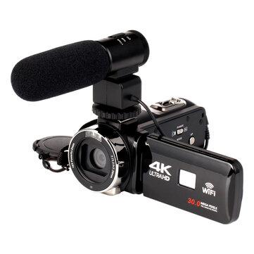 4K WiFi Ultra HD 1080P 16X ZOOM Dijital Video Kamera Lens ve Mikrofon ile DV Video Kamera
