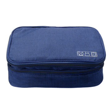Data Cable Storage Bag Multifunctional Digital Devices Stationery Case Portable Travel Electronic Pouch Earbuds Earphone Organizer