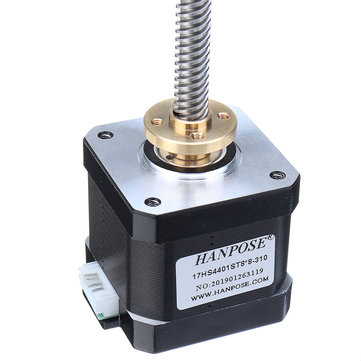 HANPOSE 17HS4401-S T8x8 Nema 17 Lead Screw Stepper Motor Linear Actuators 40mm 1.7A 40N.cm 4-lead 42 Motor 100-500mm Trapezoidal Lead Screw 3D printer Z Axis