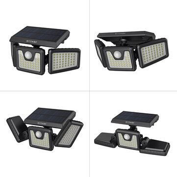 BlitzWolf® BW_OLT4 Rotatable 3 Heads Adjustable Waterproof 120°PIR Sensor Solar Flood Light
