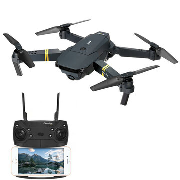 Hver E58 WIFI FPV med 720P / 1080P HD Wide Angle Camera High Hold-modus Foldbar RC Drone Quadcopter RTF