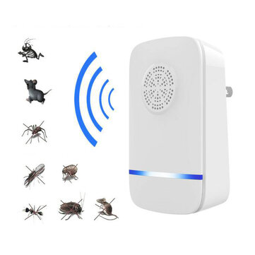 Loskii PR-892 Multi-use Ultrasonic Pest Repeller Electronic Pest Control Repel Mouse Bed Bugs Mosquitoes Roaches Killer Non-toxic Eco-Friendly Human & Pet Safe Home Indoor