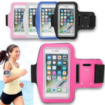 IPRee® Waterproof Sports Armband Case Cover Running Gym Touch Screen Holder Pouch for iPhone 7
