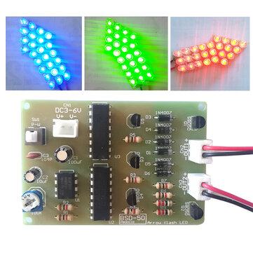 Geekcreit DIY Warning Strobe Light Kit Parts CD4017 Thunderbolt Flash LED Electronic Kit