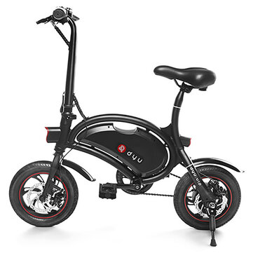DYU D2 Standard Version 12 Inches Electric Bicycle Smart Folding 5.2Ah Battery Intelligent 20km Mileage Control Bike