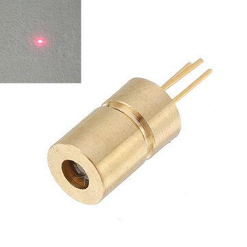 उपकरण उद्योग 6x10.5 मिमी के लिए 650nm 10mw 5V रेड डॉट लेजर डायोड मिनी लेजर मॉड्यूल हेड