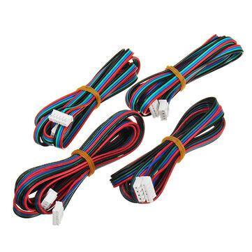 Câble de moteur pas à pas FLSUN® 4 pièces 1M 4 broches Nema 17 Compatible avec la série MKS pour imprimante 3D